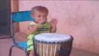 2 Year old Djembe Player