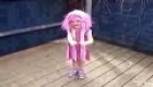 Amy Dancing To Lazytown Bing Bang in Stephanie Costume