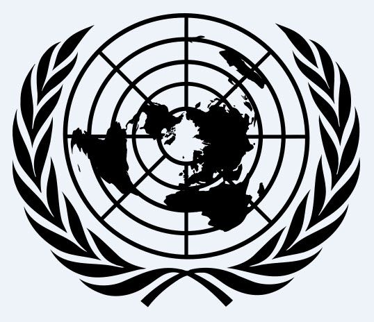 UN United Nations Flag. Flat Earth Order.