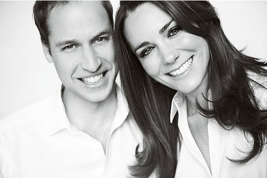 Princ William in Kate Middleton