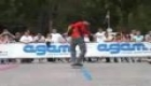 Freestyle slalom skating