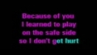 Kelly clarkson - Because of you   karaoke