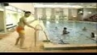 Mr. Bean goes to the swimming pool