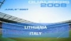 EURO 2008 Qualifier - Lithuania vs. Italy