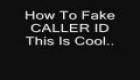 Fake the caller ID on phones