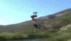 Huge Bike Jump into a Pond 30 Feet in the Air